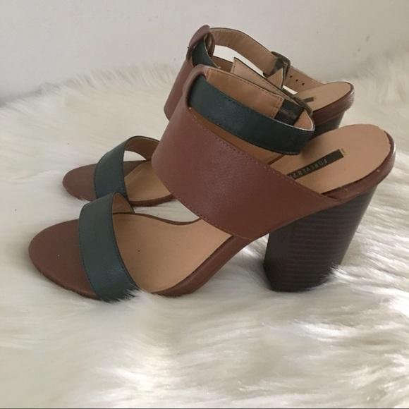 Forever 21 Shoes - Unique Ankle Strap Block Heel